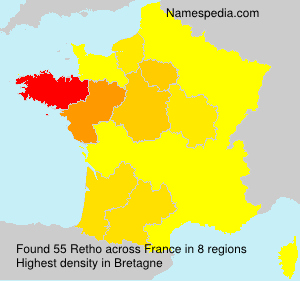 Familiennamen Retho - France