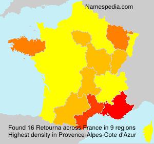 Surname Retourna in France