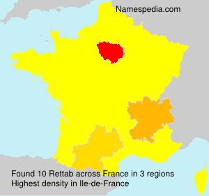 Surname Rettab in France