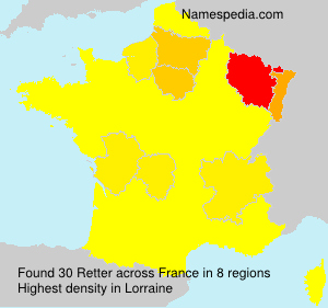 Surname Retter in France