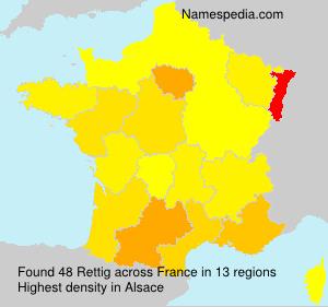 Familiennamen Rettig - France