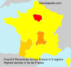 Surname Reverendo in France