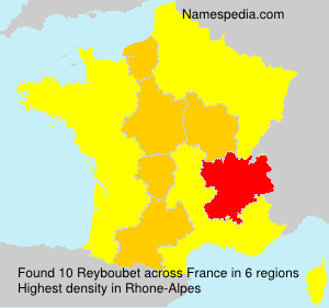 Surname Reyboubet in France