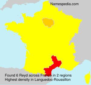 Surname Reyd in France