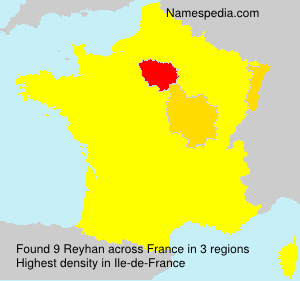 Surname Reyhan in France