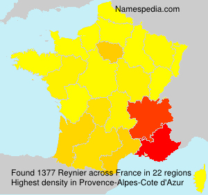 Surname Reynier in France