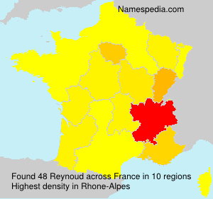 Surname Reynoud in France