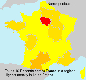 Familiennamen Rezende - France