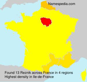 Familiennamen Reznik - France
