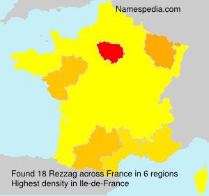 Surname Rezzag in France