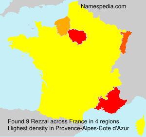 Surname Rezzai in France