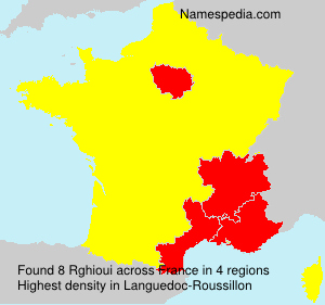 Surname Rghioui in France