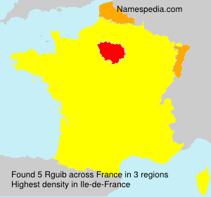 Surname Rguib in France