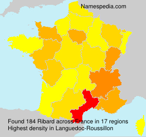 Surname Ribard in France