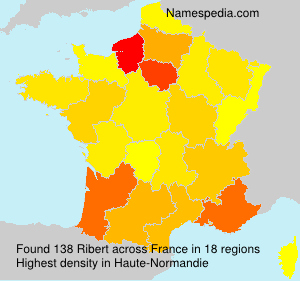 Surname Ribert in France