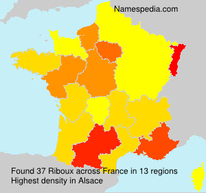 Surname Riboux in France