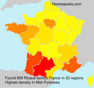 Surname Ricaud in France