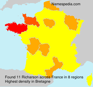 Surname Richarson in France