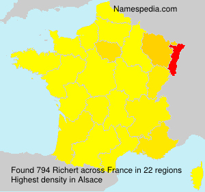 Surname Richert in France