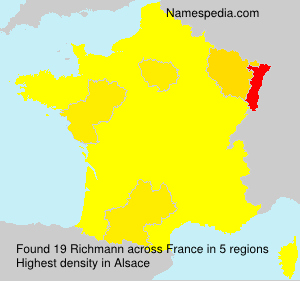 Surname Richmann in France