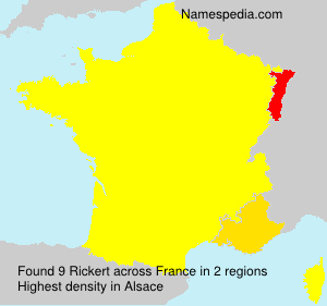 Surname Rickert in France