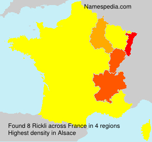 Surname Rickli in France
