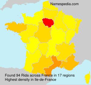 Familiennamen Rida - France