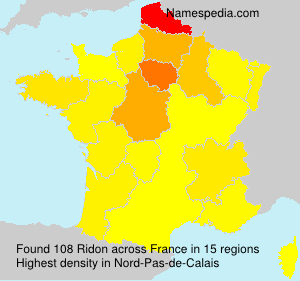 Surname Ridon in France