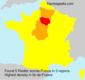 Surname Riedler in France