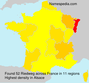 Surname Riedweg in France