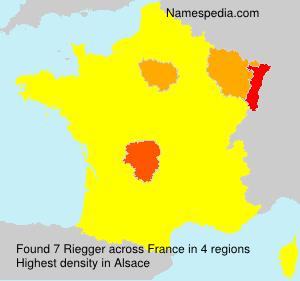 Surname Riegger in France