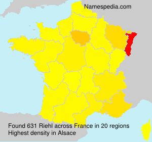 Surname Riehl in France