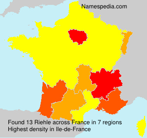 Surname Riehle in France