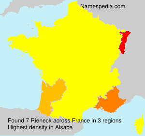 Surname Rieneck in France