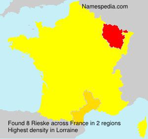 Surname Rieske in France