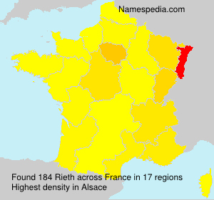 Surname Rieth in France