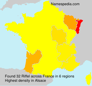 Surname Riffel in France