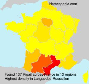 Familiennamen Rigail - France