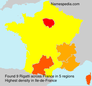 Surname Rigatti in France