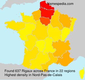 Surname Rigaux in France