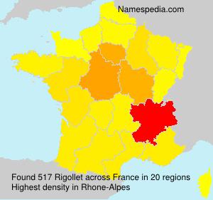 Familiennamen Rigollet - France