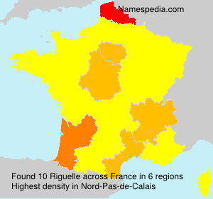 Surname Riguelle in France