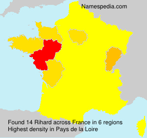 Surname Rihard in France