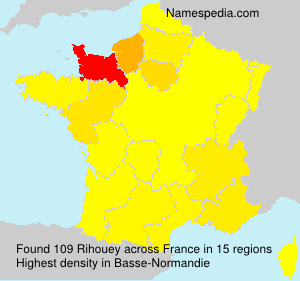 Surname Rihouey in France