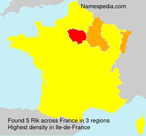 Surname Rik in France