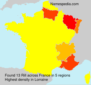 Surname Rill in France