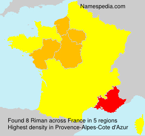 Surname Riman in France