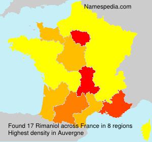 Surname Rimaniol in France