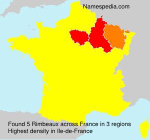 Familiennamen Rimbeaux - France