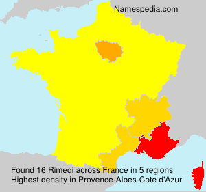 Surname Rimedi in France